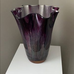 Pier 1 Glass Wave Vase